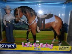 Breyer NIB * Lets Go Riding - Western * 1410 Rider Tack Traditional Model Horse
