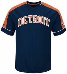 Detroit Tigers Cooperstown Majestic Mens Vintage Hit Jersey Big And Tall Sizes