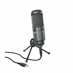 New Audio-Technica Back Electret Condenser Type USB Microphone AT2020USB+ Free