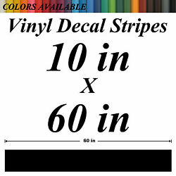 10x60 Universal Rally Racing Stripes Vinyl Decals Stickers For Car Truck Boat