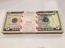 2006 Ia Boston 5 Star Pack W/bep Strap 500fv 100 Colorized Consecutive Notes