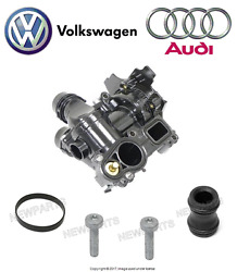 Thermostat And Water Pump W/ Gasket Pump Screw Coolant Pipe And Seal Genuine