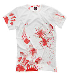 Bloody T-shirt - All Over Print Bright Terrible Tee Party Clothing