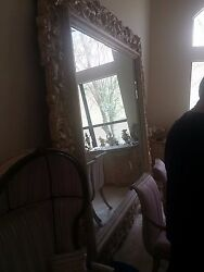 Mammouth Huge Large Decorative Framed Beveled Glass Mirror 8and0396 X 10and039