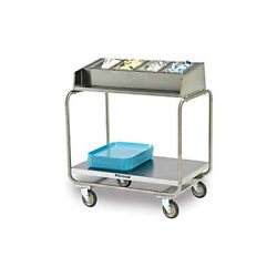 Lakeside 216 Stainless Steel Angle Frame Tray And Silver Cart