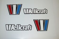 Wellcraft Marine Vinyl Outlined W 8x6 Set With Letters Wellcraft Boat Stickers