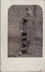 Ww1 Medic Royal Army Medical Corps In France Greatcoat Smoking Nov 1916