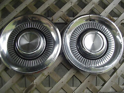 1959 59 Lincoln Mark Series Premier Town Car Two Hubcaps Wheel Covers Center Cap