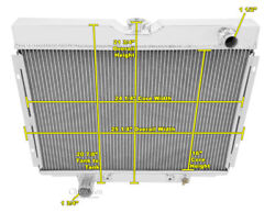 68 69 Ford Torino Ford Config 2 Row Aluminum Radiator 1 Inch Tubes Ae379