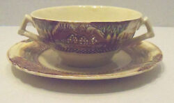 Vintage Myott Son And Co England's Countryside Bouillon Cup And Saucer