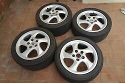 Four 4 Porsche 996/993/964/boxster Cup 3 17 Turbo Twist Wheels And Tires