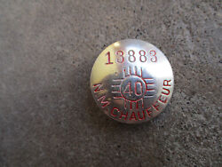 Vintage 1940 New Mexico Nm Chauffeur Badge Pin Cdl Employee Id Driver License