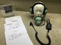 David Clark H7020 P/n 12521g-01headset Noise Shielded Used With C7053