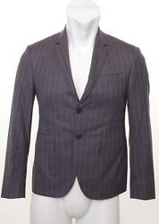 Thom Browne Charcoal Pinstripe 3-button Blazer Jacket Coat 0/36 New Made In Usa