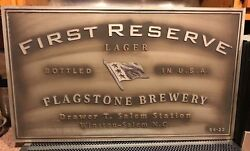 First Reserve Flagstone Brewery Rare Vintage Winston Salem Nc Beer Sign