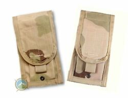 Lot Of 2 New Double Mag Pouch Desert Camo Molle 2 Magazine Pouch Dcu - Us Army