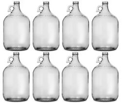 Glass Jug 1 Gallon Pack Of 8 Fermentor / Carboy