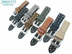22mm Watch Strap Genuine Leather Multicolored Vintage Classic Handmade Crafts