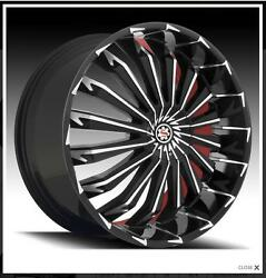 Scarlet Sw5 26 Inch Wheels Rims And Tires Fit Charger Chrysler 300 Old School Cars