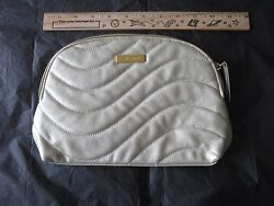 New Shiseido Faux Leather Golden Cosmetic Purse Pouch Bag $6.99