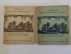 Rare Books Glimpses Of Jewish Settlement History Vol 1 And 2