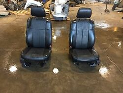 09-14 Ford F150 Fx4 Black Leather Front Seats Stock 161324