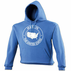 Made In The United States Hoodie Hood Birthday Us Usa America Patriot Gift