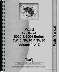 Ford 8000 9000 Series Tractor Parts Manual Fo-p-8000,9000