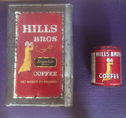 Hills Brothers Antique Coffee Can Set.