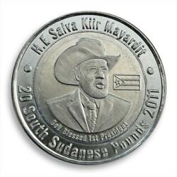 Southern Sudan, A Set Of 2 Coins, 20 Pounds, First President, 2011