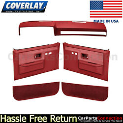 Coverlay Dash Cover Door Panel Kit Red 18-601cf-rd Power Lock And Window Only