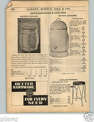 1936 Paper Ad Stoneware Blue Ribbon Brand Water Cooler Pottery Earthenware