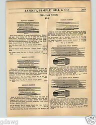 1936 Paper Ad Heddon South Bend Split Bamboo Fly Fishing Rod Rods