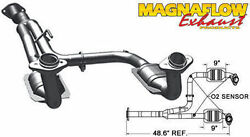 2005-2007 Jeep Liberty 3.7l 2wd Magnaflow Direct-fit Catalytic Converter Exhaust