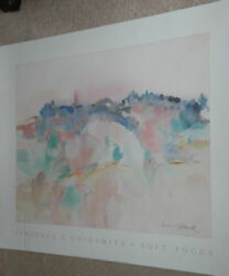 1970-1989 Artwork Reproduction Reseller Unsigned 35x 28 Soft Focus Watercolor