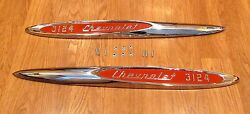 1957 Chevy Truck Front Fender Emblems Cameo 3124 With Hardware Usa Made