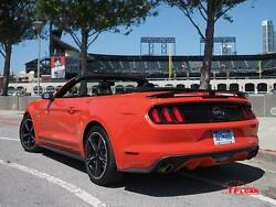 Fits Ford Mustang Convertible 2015+ 3-post Custom Rear Spoiler -primer Finish-