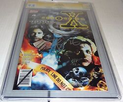 X-files 4 Cgc Ss 9.8 Signature Autograph David Duchovny Signed Topps Comics 🔥