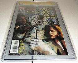 X-files 24 Cgc Ss 9.8 Signature Autograph David Duchovny Signed Topps Comics
