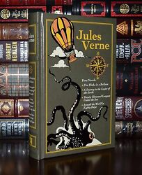 Jules Verne 4 Novels Under Sea Center Earth New Deluxe Leather Bound $34.91