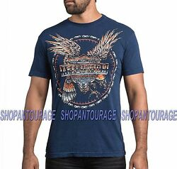 Affliction Ac Raptor A15720 New Fashion Graphic Short Sleeve T-shirt For Men