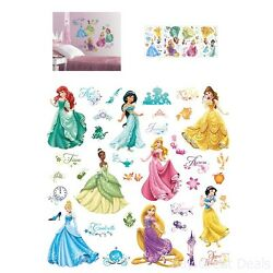 Disney Princess Wall Stickers Royal Debut Peel And Stick Decals Pink Girls New