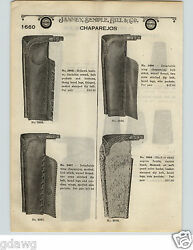 1924 Paper Ad 2 Sided Mohawk Leather Angora Front Chaps Chaparejos Cuffs