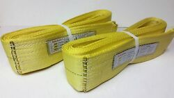 2 Boat Lifting Slings/lifting Straps 4 X 20and039 W/12800 Lbs. Lift Capacity Each