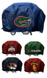 Ncaa 68 Inch Vinyl Economy Gas Or Charcoal Grill Cover -select- Team Below