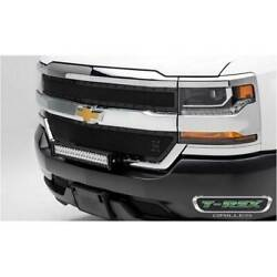 T-rex Blacked Out X-metal 2pc Main Grille Overlay For Chevy Silverado 1500 16