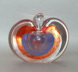 Studio Art Glass The Apple Of My Eye Perfume Bottle And Lay Down Paperweight