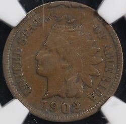 1902 1c Indian Cent Double Struck 2nd Strike 85 Off Center Ngc Mint Error Xf 40