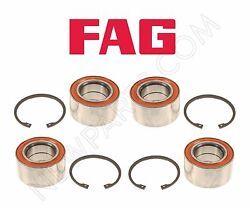 Set Of Two Front And Two Rear Wheel Bearing Kits For Mercedes W163 Ml320 Ml350