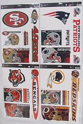 Nfl 11 X 17 Ultra Decals Set Of 5 By Wincraft -select- Team Below